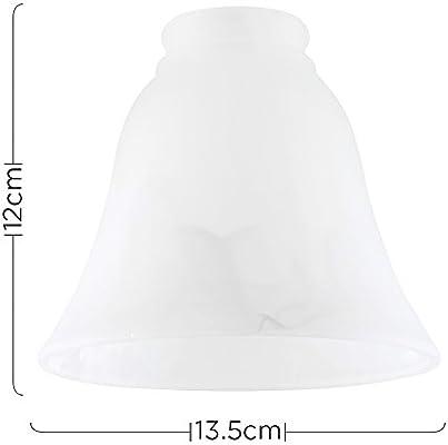 MiniSun - Set de 3 tulipas de repuesto para lámpara, de cristal ...