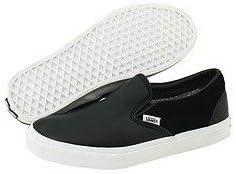 Chaussures Vans Skate Classic Slip-On suède Cuir Noir ...