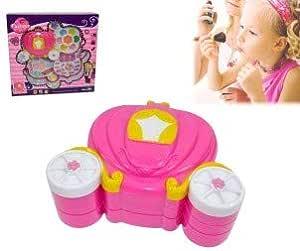 Estuche maquillaje forma de CARROZA para niñas - Juguete infantil de imitación: Amazon.es: Juguetes y juegos