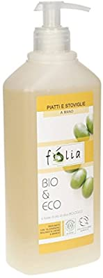 FOLIA - Organic Dish Soap - Degreases and Cleanses Releasing a Citrus Fragrance - Suitable for Delicate Skin and Low Environmental Impact - 500 ml