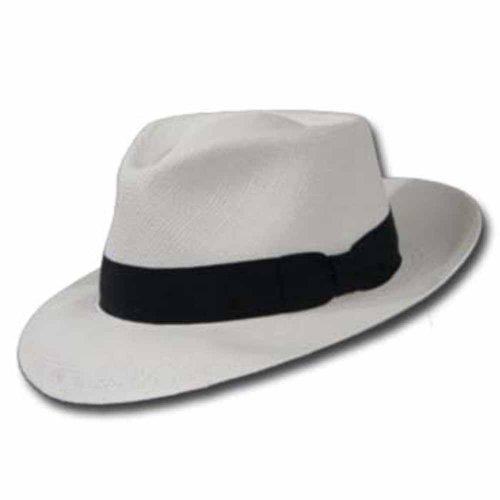 PORTOFINO RETRO Panama White Straw Hat CROWN C by Ultrafino