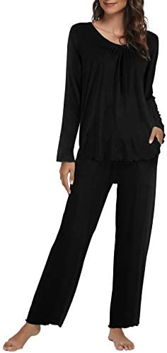 Topee Women's Pajama Set Long Sleeve Two Piece Pajamas Tops and Long Sleep Pants Soft Sleepwear Pj Loungewear Sets