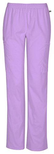 Cherokee Workwear 44200A Women's Mid-Rise Straight Leg Pant Vibrant Orchid 3X-Large