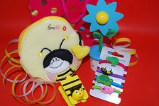 Floppy Wooden Flower And Bumble Bee Party Bag