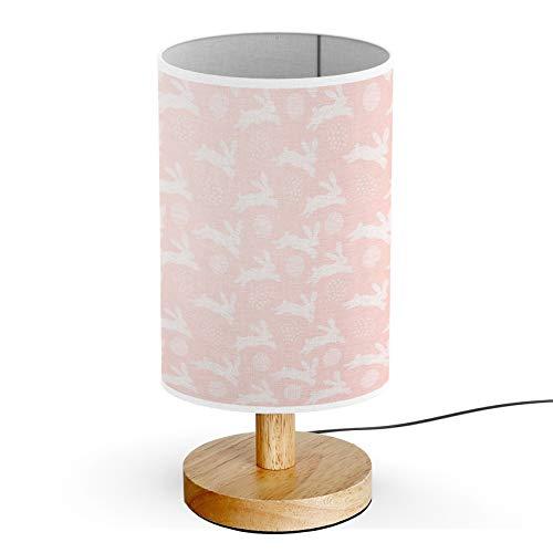 ARTSYLAMP - Wood Base Decoration Desk Table Bedside Light Lamp [ Happy Easter Bunny ]