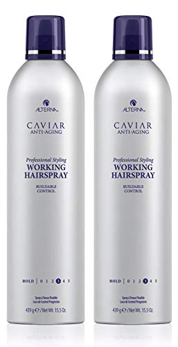 CAVIAR Anti-Aging Professional Styling Working Hair Spray, Flexible Hold, 15.5-Ounce, (2-Pack)
