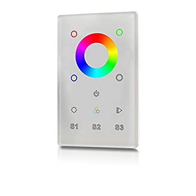 RGBgenie RGBW Touch Panel Controller and Dimmer with Built-in Repeater, Z-Wave Plus, 3 Scene, In-Wall. ZW-3002 (white)