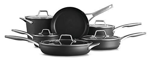 Calphalon 2029626 Premier Hard-Anodized Nonstick 11 Piece Cookware Set, Black ()
