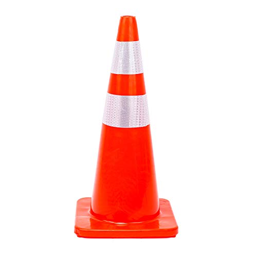 6 Cones 28'' Orange Traffic Safety Cone with Reflective Collar Road Packing PVC Plastic(Set of 6) by DOKIO (Image #5)