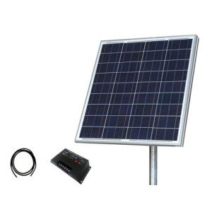 Tycon TPSK12-80W 80W & 12V Solar Panel Kit with Panel44; Pole Mount & Cable