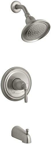 Kohler KT3954EBN Devonshire 1-Handle Rite-Temp Tub and Shower Faucet Trim Kit, Vibrant Brushed Nickel