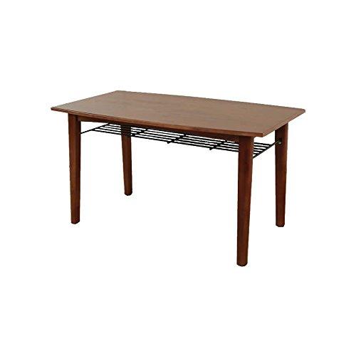ブラウン/ダイニングテーブル レトロ 天然木 アイアン シンプル スチール棚 オシャレ ブラウン B07BXHSPHBブラウン