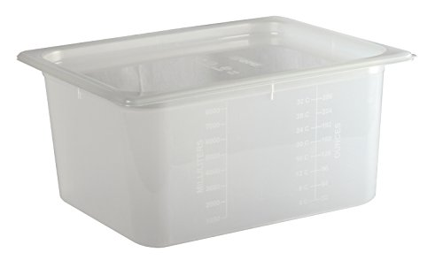 - San Jamar MP12 Mod Pans 1/2 Food Pan with Lid, 51/8