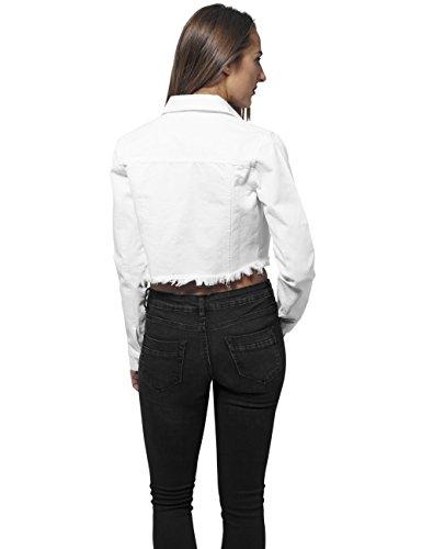 Urban Classics Mujeres Chaquetas / Chaqueta de entretiempo Ladies Short Denim blanco