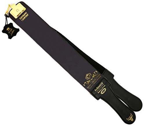 "Macs Razor Products Professional Quality Sharpening Strop Made of Real Leather 3"" Wide and 22"" Long Macs -2011G"