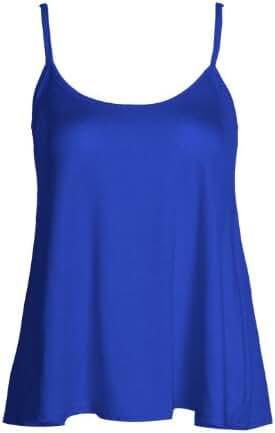 Forever Womens Sleeveless Plain Viscose Jersey Swing Cami Vest Top