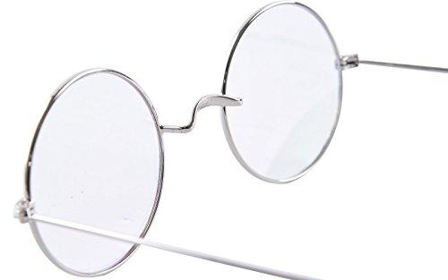 daea9ffbc1 Agstum Retro Round Optical Rare Wire Rim Eyeglass Frame 49mm ...