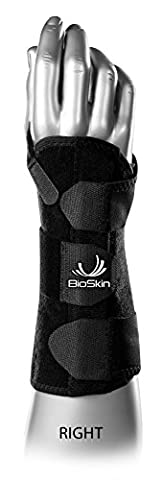 DP3 BioSkin 8-Inch Wrist Brace --- Hypoallergenic Support for Carpal Tunnel, Tendonitis, and Arthritis Pain (XL-XXL) Right