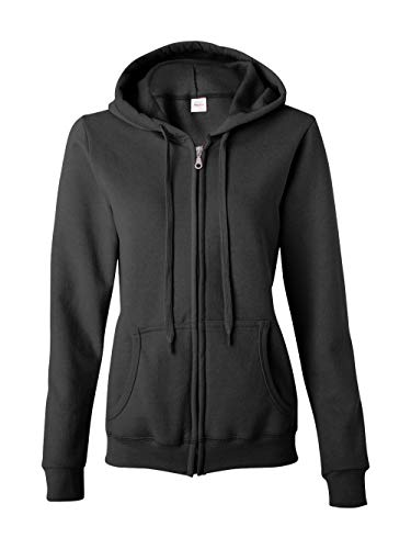 Blend Full-Zip Hooded Sweatshirt, Black, Large ()