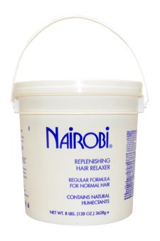 Nairobi Replenishing Hair Relaxer Regular Formula For Normal Hair 8 Lbs Relaxer Unisex