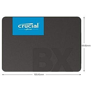 Crucial BX500 240GB 3D NAND SATA 2.5-Inch Internal SSD, up to 540MB/s - CT240BX500SSD1 Black/Blue