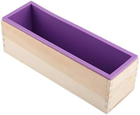 Jabón de silicona 1200g molde rectangular caja de madera con flexible Liner para DIY hecho a mano del pan de molde del jabón del molde: Amazon.es: Belleza