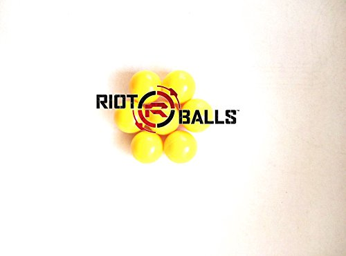 500 Count X 0.68 Cal. Yellow PVC/Nylon Riot Balls Self Defense Less Lethal Practice Paintball by Riot Balls