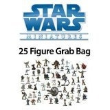 25 Star Wars Miniature Figure Minis Grab Bag