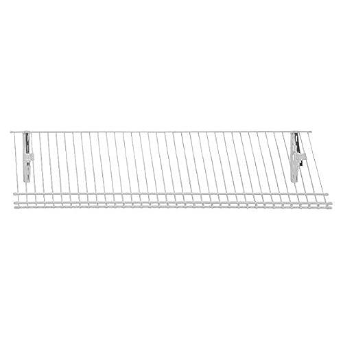 High Quality ClosetMaid 2846 ShelfTrack Ventilated Wire Shoe Shelf Kit, 3 Foot, White
