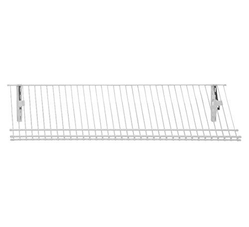 Rubbermaid Shoe Rack - ClosetMaid 2846 ShelfTrack Ventilated Wire Shoe Shelf Kit, 3-Foot, White
