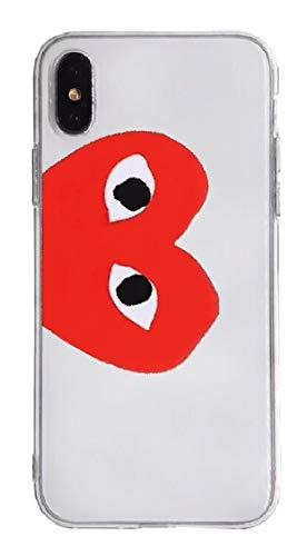 CDG Large Logo Transparent iPhone Case | Hype, Streetwear, Designer, Heart, | for iPhone 7/8, iPhone 7 Plus/8 Plus, iPhone X/XS, iPhone XR, iPhone Xs Max (iPhone 7/8 Plus)