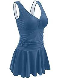 Women's Plus Size Swimsuits Tummy Control One Piece Swim Dresses Bathing Suit