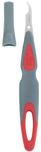 Clauss Titanium Bonded Seam Ripper With Cover, Grey and Red
