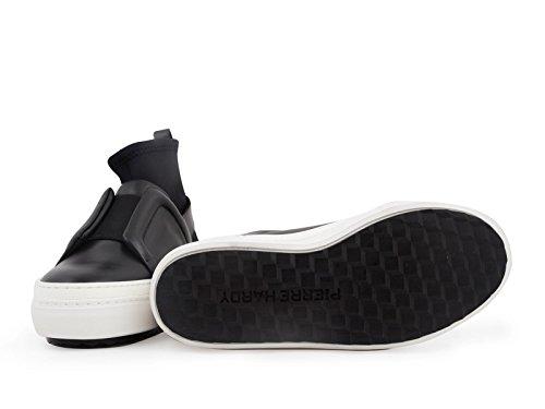 Pierre Hardy Donna Modello Nero Pelle In Codice Alte Ns02 Fusion Sneakers Slider twwdZr
