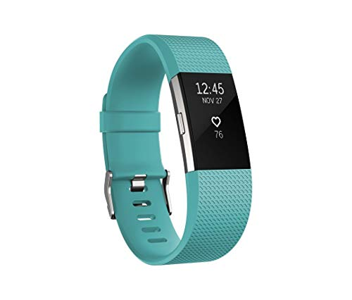 Fitbit Charge 2 Heart Rate + Fitness Wristband, Teal, Large (US Version)