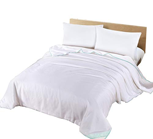 Silk Camel Luxury Allergy-Free Comforter Filled with 100% Natural Long Strand Mulberry Silk for Spring Season - King Size