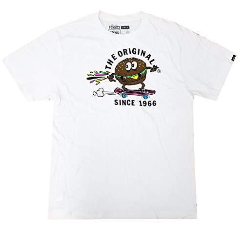 (Vans Boy's SK8 Burger Crew Neck T-Shirt White/Multi VN0VUPWHT (X-Large))