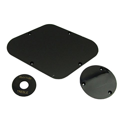 Musiclily Cavity & Switch Plate and Pickup Selector Plate Set for Epiphone Guitar, Black