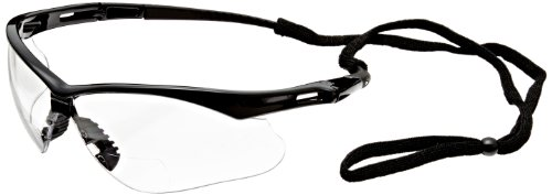 Jackson Safety V60 Nemesis Vision Correction Safety Glasses (28624), Clear Readers with +2.0 Diopters, Black Frame, 6 Pairs/Case by Jackson Safety (Image #1)