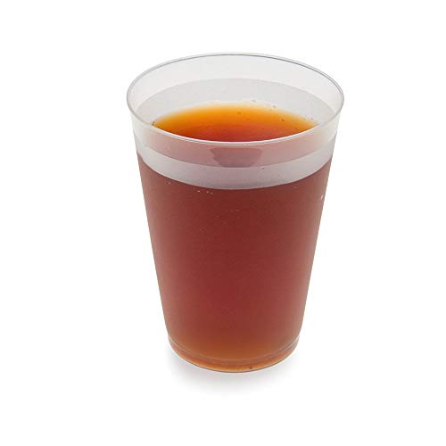 Durable, Flexible 16 oz BPA Free Plastic Cup, Drinking Cup, Soda Cup - Recyclable Polypropylene (PP) - Opaque / Frosted - 500ct Box - Restaurantware (Renewed)