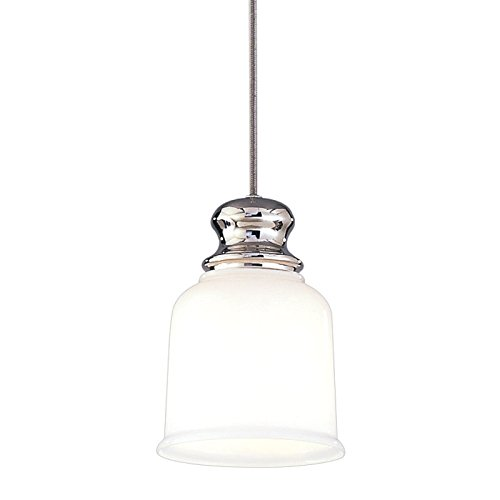Riverton Pendant Finish - Riverton 1-Light Pendant - Polished Nickel Finish with Opal Glossy Glass Shade