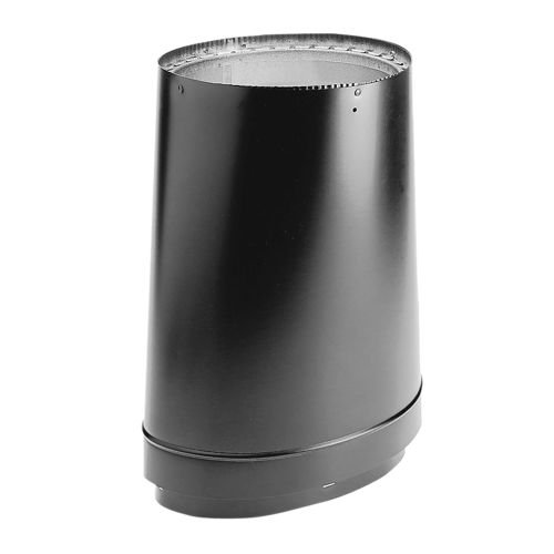 DuraVent 8870 8 inch DVL DoubleWall Oval to Round Adapter Matte Black,