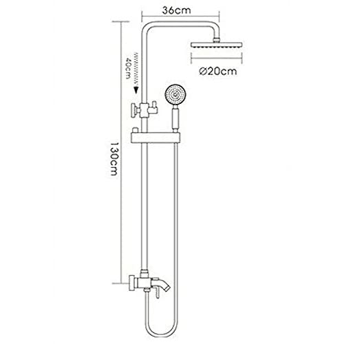 Wall - mounted copper top - sprayed water - saving lifting shower tube shower suite-Ten years warranty delicate