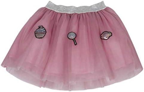 Nenè - Falda de Tul y Lentejuelas para niña de 2 a 4 años Rosa 98 ...