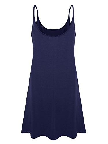 Navy Swing Spaghetti Loose Element Size Dress 7th Blue Plus Casual Women's Slip ASx0WXwv