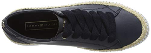 Tommy Hilfiger Damen Tommy Jute City Sneaker, Blau (Midnight 403), 39 EU 5