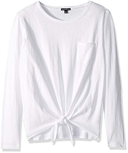J.Crew Mercantile Women's Long-Sleeve Tie Waist T-Shirt, White, XXS