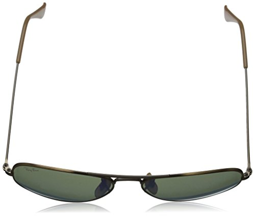 Ray-Ban RB3025 Aviator Large Sunglasses, Brushed Bronze/Violet Mirror, 55 mm by Ray-Ban (Image #4)