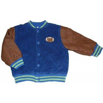 LeTop Baby-boys Corduroy and Faux Leather Football (Football Leather Jacket)