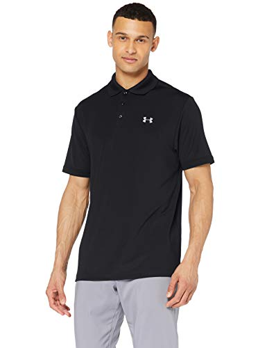 Under Armour Men's Performance Polo, Black (001)/Steel, X-Large